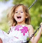 Emma, eine glückliche Besucherin des Affen- und Vogelparks Eckenhagen